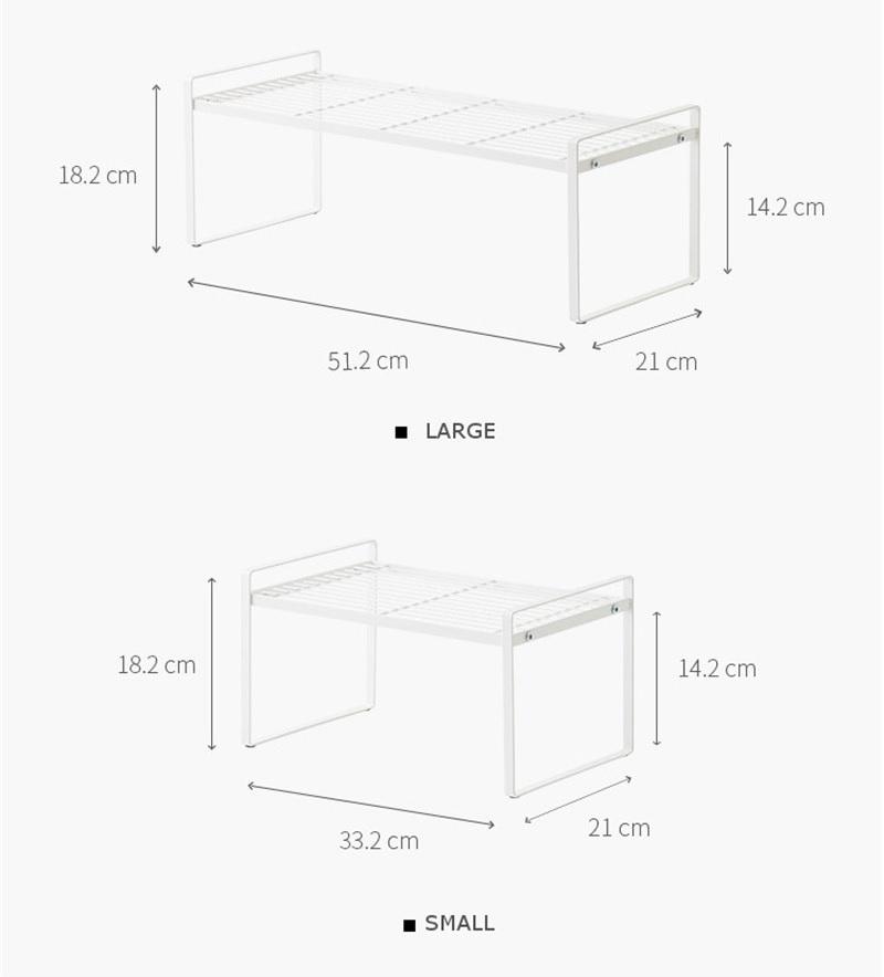 tailles etagere cuisine